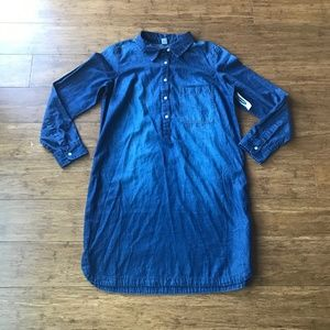 Old Navy Denim Collared Dress Long Sleeve Size M